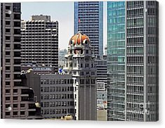 Acrylic Print featuring the photograph Old Humboldt Bank Building In San Francisco by Susan Wiedmann