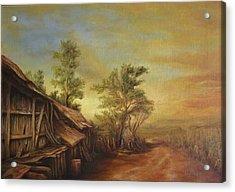 Old Hut From Turceni Acrylic Print by Dan Scurtu