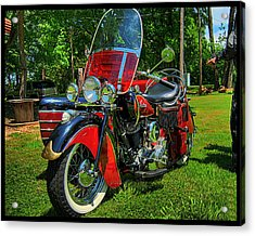 Old Indian Motorcycle Acrylic Print