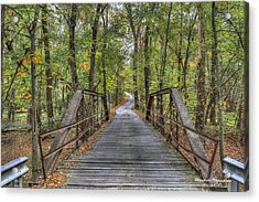Old Iron Bridge At Panther Creek Acrylic Print