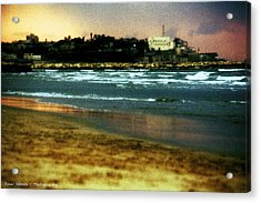 Old Jaffa In Storm 2 Acrylic Print by Isaac Silman