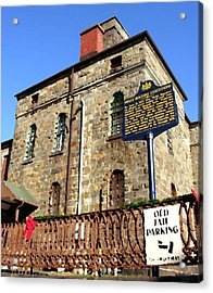 Old Jail In Jim Thorpe Pa Acrylic Print by Jacqueline M Lewis
