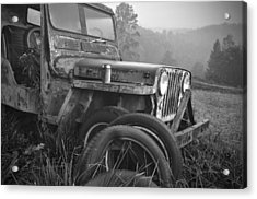 Old Jeep Acrylic Print by Jerry Mann