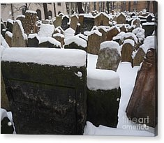 Acrylic Print featuring the photograph Old Jewish Cemetery by Deborah Smolinske