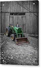 Old John Deere Tractor Acrylic Print by Edward Fielding