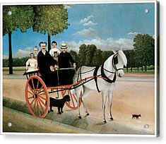 Old Junier's Cart Acrylic Print by Henri Rousseau