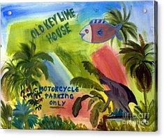 Old Key Lime House Acrylic Print
