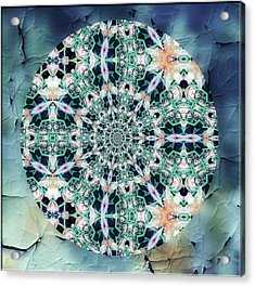 Old Lace Mandala Acrylic Print by Georgiana Romanovna