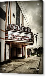 Old Lenoir Nc Movie Theater Acrylic Print