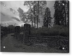 Old Liberty Park Ruins In Spokane Washington Acrylic Print by Daniel Hagerman