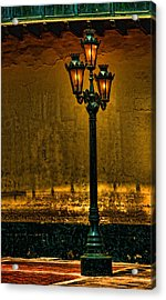 Old Lima Street Lamp Acrylic Print