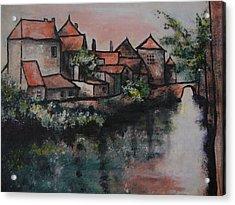 Old Little Village Acrylic Print