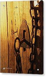 Old Lock And Key Acrylic Print