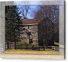 Old Log Home Acrylic Print