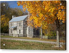 Old Log House Acrylic Print by Brian Jannsen