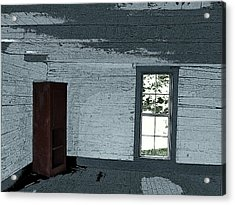 Old Log House Interior Acrylic Print