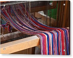 Old Loom For Yarn Acrylic Print by Salvatore Meli