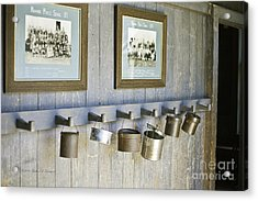 Old Lunch Pails Acrylic Print