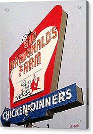 Old Macdonalds Farm Acrylic Print by Paul Guyer