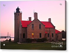 Acrylic Print featuring the photograph Old Mackinac Point Lighthouse by Terri Gostola