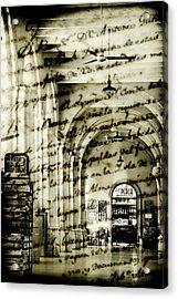 Old Mahon Town Market Acrylic Print by Pedro Cardona