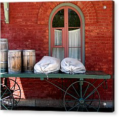 Acrylic Print featuring the photograph Old Mail Wagon by Mary Bedy