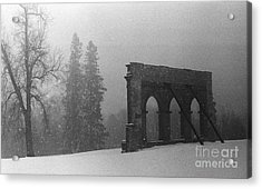 Old Main After The Fire Acrylic Print by Heidi Hermes