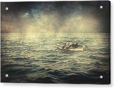 Old Man And The Sea Acrylic Print by Taylan Apukovska