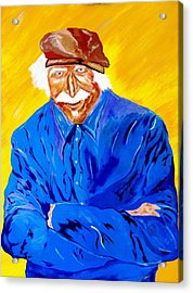 Old Man Hawk-artist Rendition Acrylic Print