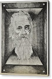 Old Man Head In Box Acrylic Print by Glenn Calloway
