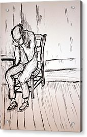 Old Man In Sorrow Acrylic Print by Paul Morgan