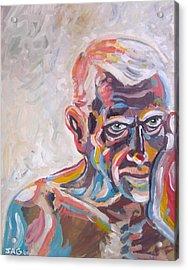 Old Man In Time Acrylic Print by John Ashton Golden