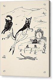 Old Man Kangaroo At Five Acrylic Print by Rudyard Kipling