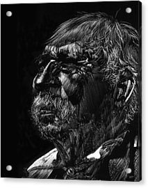 Old Man Acrylic Print by Michele Engling