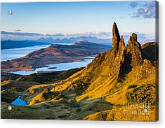 Old Man Of Storr At Sunrise Acrylic Print