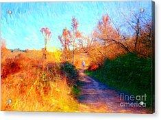 Old Man On Path Acrylic Print