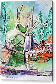 Old Man Winter Acrylic Print by Helena Bebirian