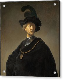 Old Man With A Gold Chain Acrylic Print by Rembrandt van Rijn