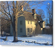 Old Manse Concord In Winter Acrylic Print