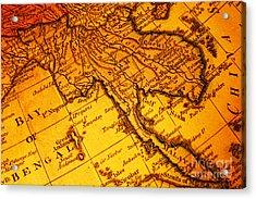 Old Map Thailand Siam Malaya Asia Burma Thailand Cambodia Laos Acrylic Print