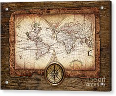 Old Maps Acrylic Print by Christo Grudev