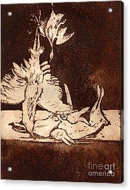 Old Masters Still Life - With Great Bittern Duck Rabbit - Nature Morte - Natura Morta - Still Life Acrylic Print