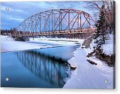 Old Matanuska River Bridge Near Palmer Acrylic Print