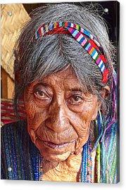 Old Mayan Woman Acrylic Print by Eye Browses