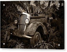 Old Mercedes Acrylic Print by Tom Bell