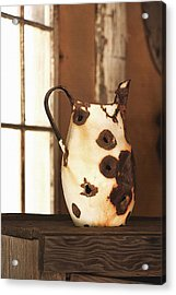 Old Metal Pitcher Acrylic Print by Art Block Collections