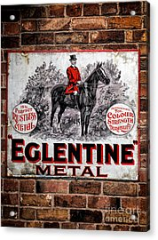 Old Metal Sign Acrylic Print by Adrian Evans