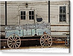 Old Mill And Wagon Acrylic Print by Cheryl Cencich