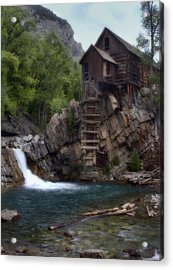 Old Mill At The Crystal River Acrylic Print