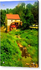 Old Mill In Springtime Acrylic Print by Cliff Wassmann